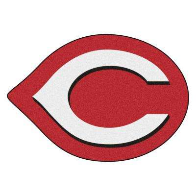 MLB - Cincinnati Reds 40 in. x 28 in. Indoor Area Rug Mascot Mat