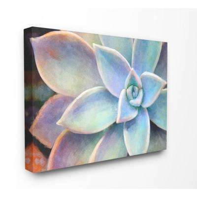 """24 in. x 30 in. """"Succulent Plant Vibrant Bloom Painting"""" by Joshua Chace Canvas Wall Art"""