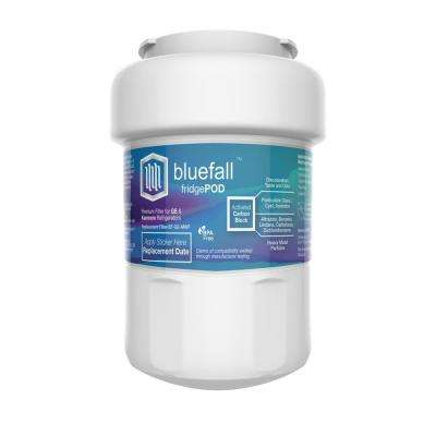 BlueFall GE MWF Refrigerator Water Filter Smart Water Compatible Cartridge