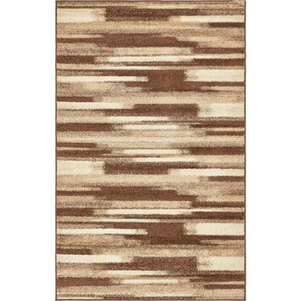 Unique Loom Autumn Wheat Beige 5 0 X 8 0 Area Rug 3138118 The Home Depot