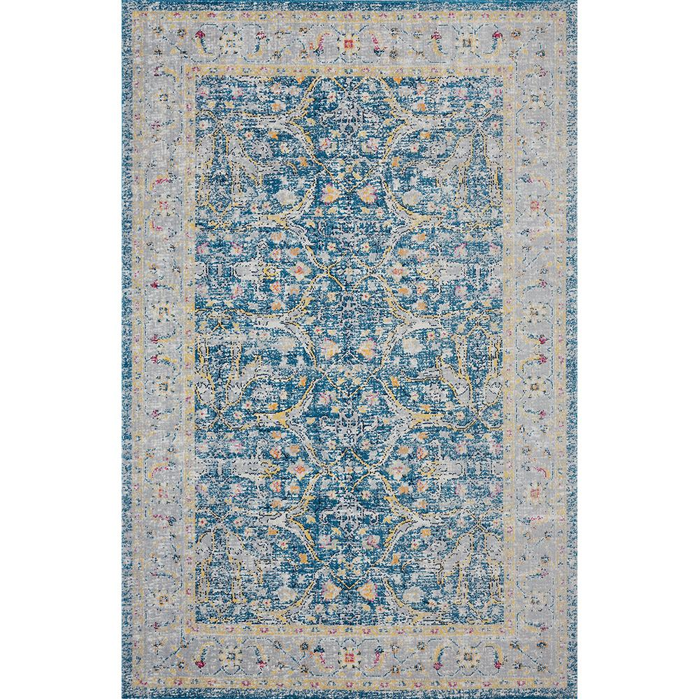 Lr Resources Antiquity Blue Yellow 7 Ft 9 In X Distressed Persian Bordered Indoor Outdoor Area Rug