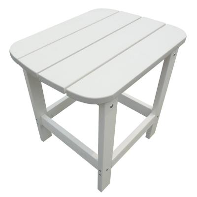 White Adirondack Resin Outdoor Side Table
