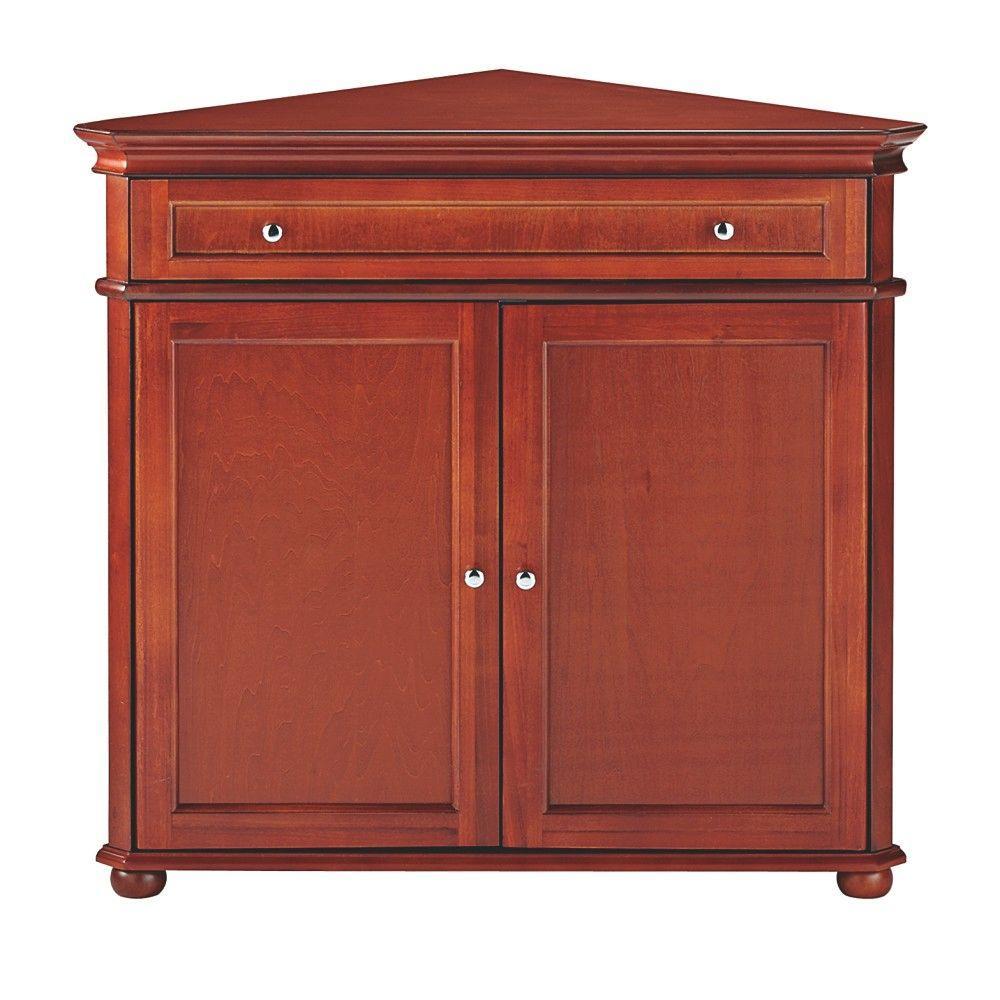 Hampton Harbor Solid Hazel Brown Storage Cabinet