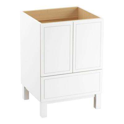 Jacquard 24 in. Bath Vanity Cabinet Only in Linen White