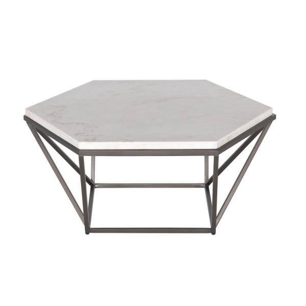 Steve Silver Corvus 36 In White Medium Specialty Marble Coffee Table With Lift Top Cv200c The Home Depot