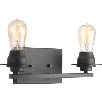 Debut Collection 2-Light Graphite Bathroom Vanity Light