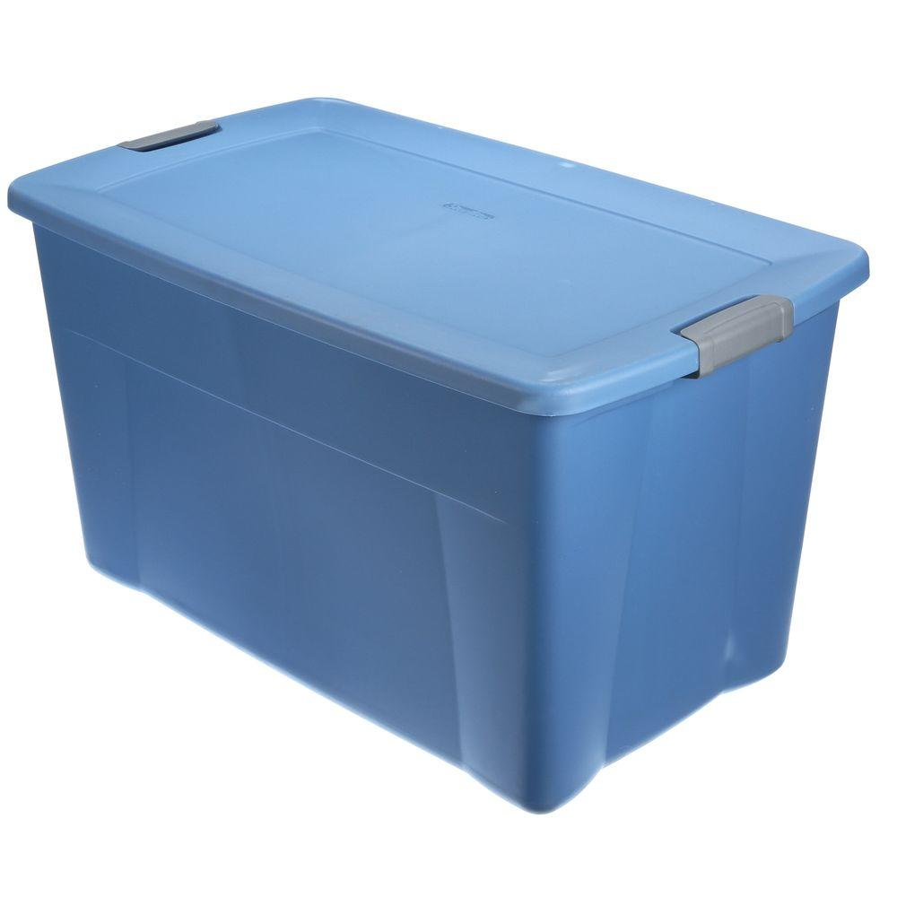 Sterilite Latching 35 gal Storage Tote in Lapis Blue 19451004 The