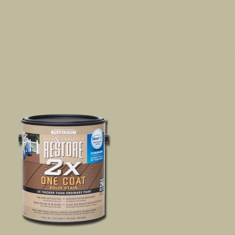 Rust-Oleum Restore 1 gal. 2X Driftwood Solid Deck Stain with NeverWet
