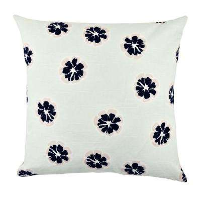 Modern Flower Designer Throw Pillow