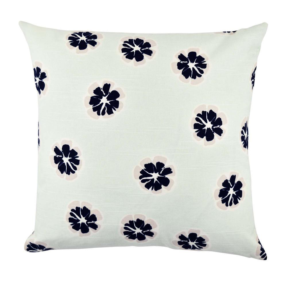 Modern Flower Designer Throw Pillow