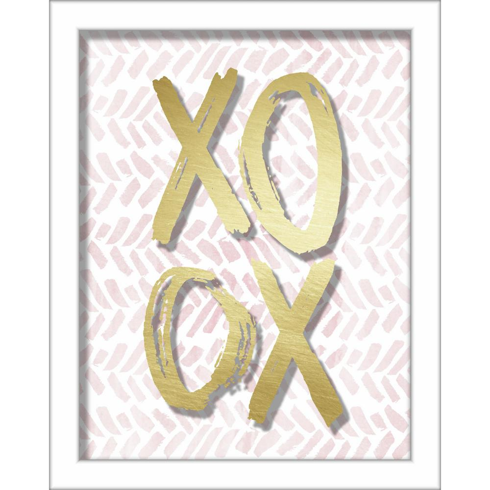 Linden Ave XOXO Brush Strokes 8 in. x 10 in. Shadowbox Wall Art ...
