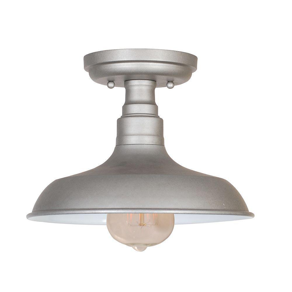 Design house kimball 1 light galvanized steel indoor ceiling mount