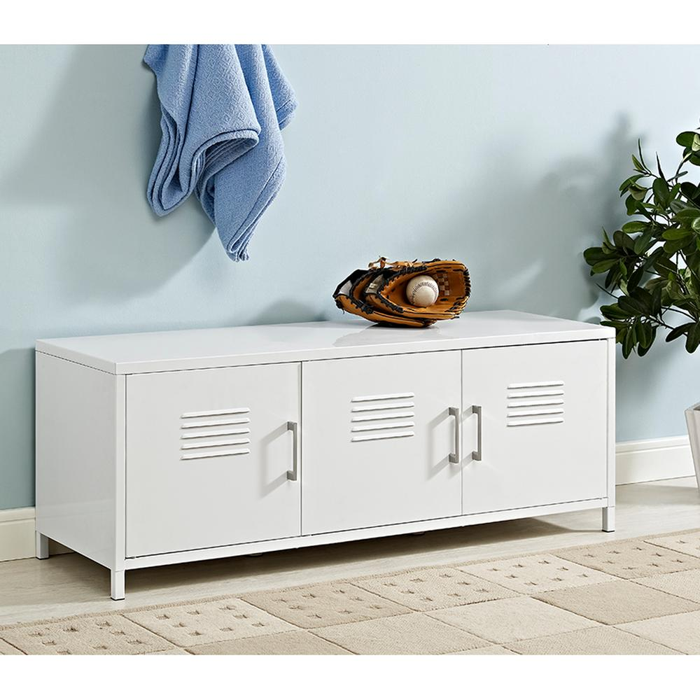 Walker Edison Furniture Company Locker Style 48 In White