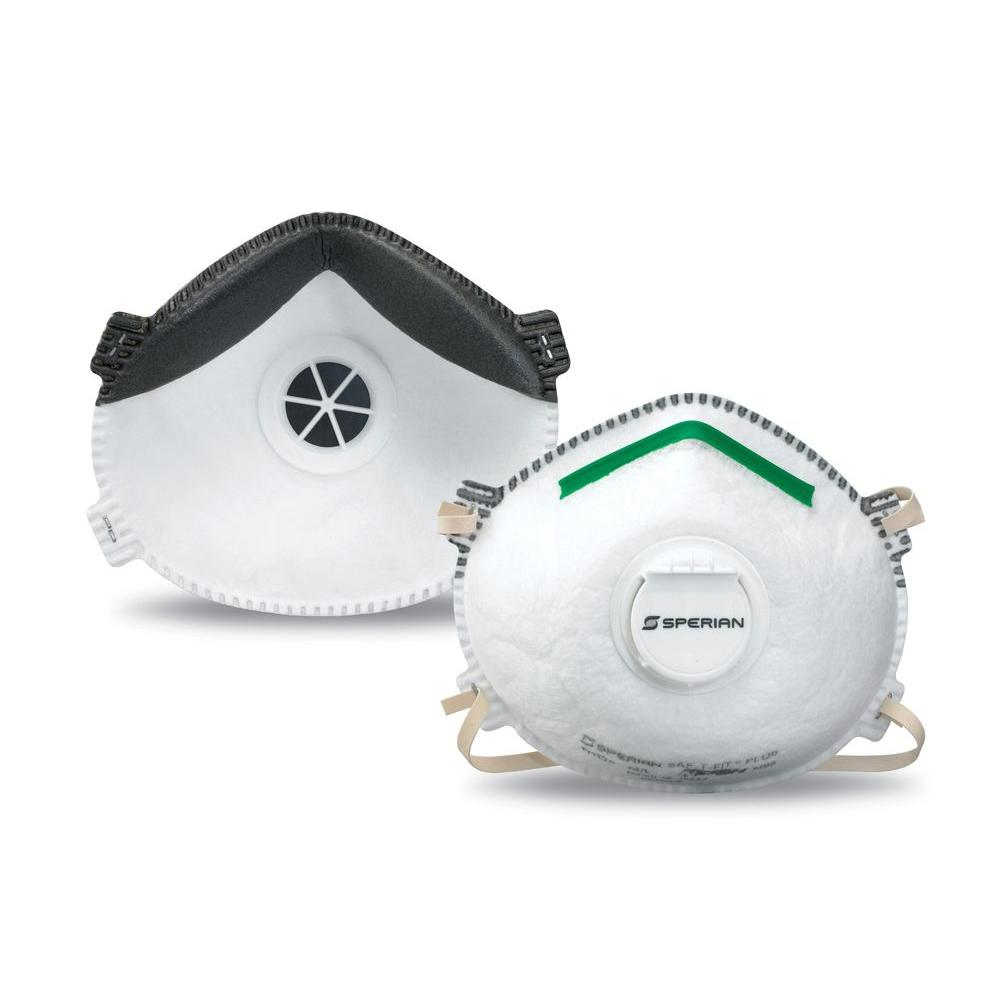 Sperian SAF-T-FIT Plus N1125 Molded Cup N95 Particulate Respirator with Boomerang Nose Seal and Valve-Medium/Large 20-Pack
