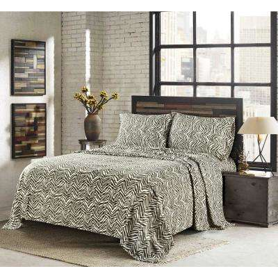 Lazlo Chocolate Chip King 4-Piece Fleece Sheet Set