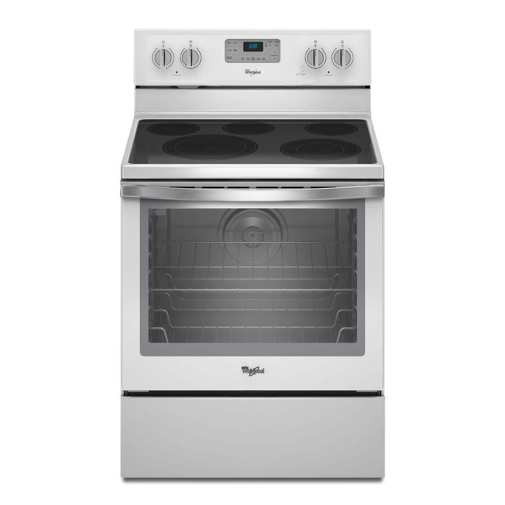 Whirlpool white ice products - Whirlpool 6 4 Cu Ft Electric Range With Self Cleaning Convection Oven In White Ice Wfe540h0eh The Home Depot