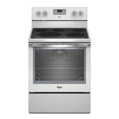 6.4 cu. ft. Electric Range with Self-Cleaning Convection Oven in White Ice