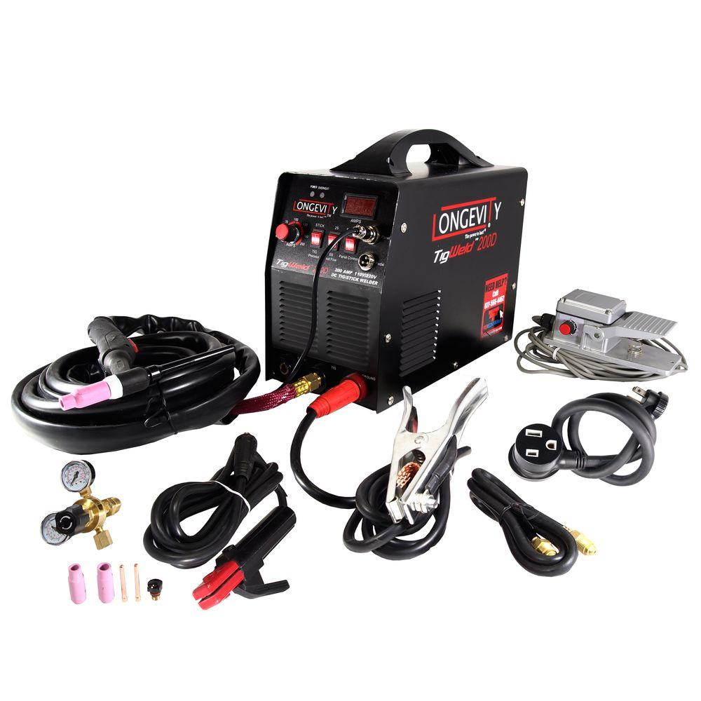 Longevity Tigweld 200D 200 Amp TIG Welder with Dual Voltage Technology