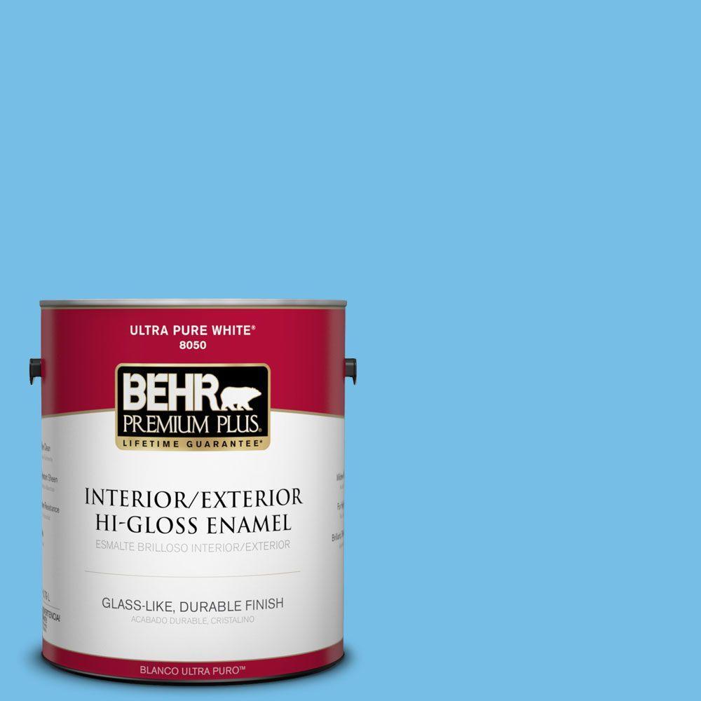 1-gal. #550B-4 Costa Rica Blue Hi-Gloss Enamel Interior/Exterior Paint