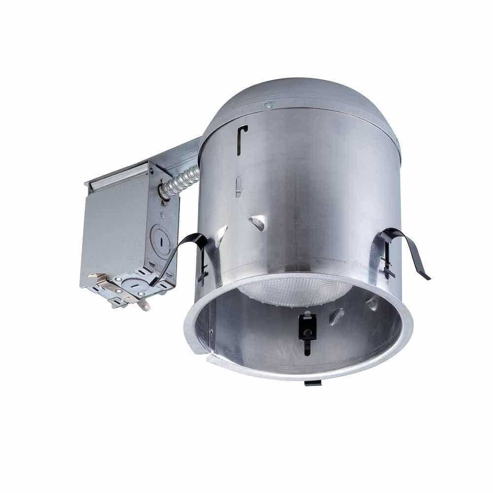 Commercial electric recessed lighting lighting the home depot 6 in aluminum recessed ic remodel housing 6 pack aloadofball Images