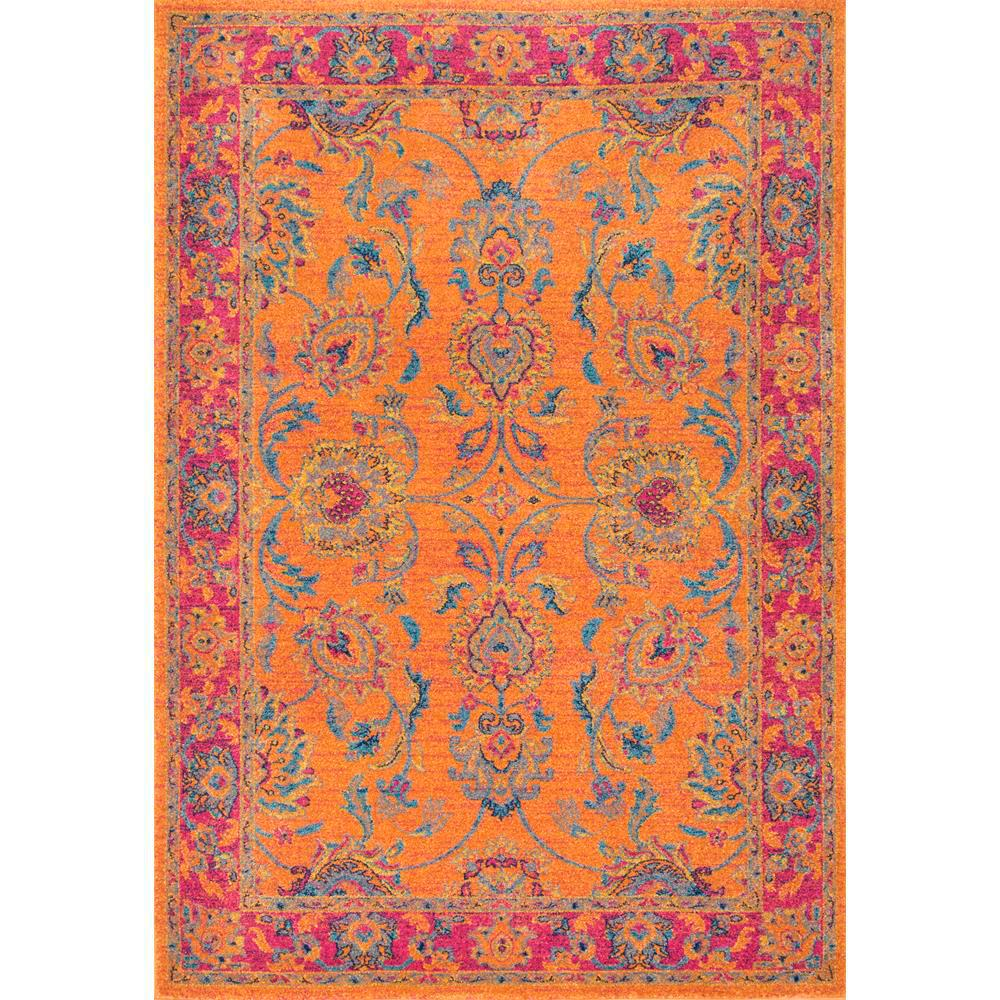 NuLOOM Floral Persian Mirella Orange 4 Ft. X 6 Ft. Area