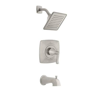 Stillmore Single-Handle 1-Spray Tub and Shower Faucet in Brushed Nickel (Valve Included)
