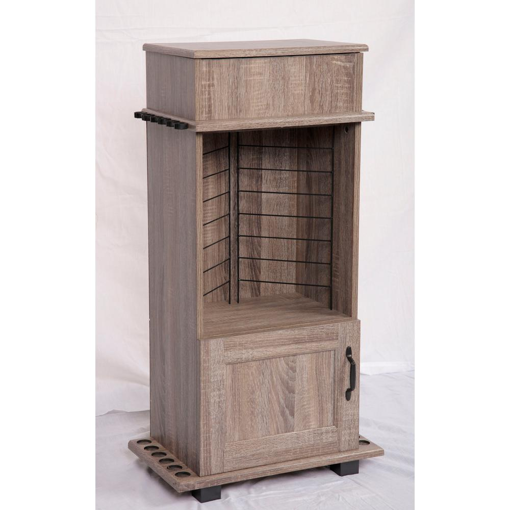 American Furniture Classics Fishing Storage And Organization Cabinet With Upper Covered Storage Area