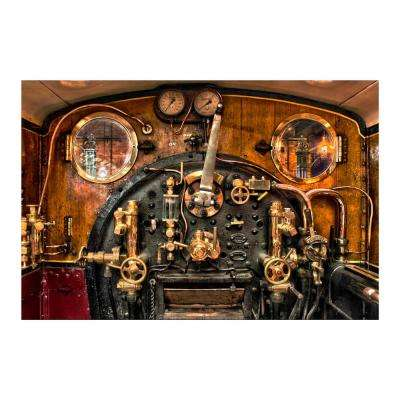 "47 in. x 32 in. ""Train Controls"" Tempered Glass Wall Art"