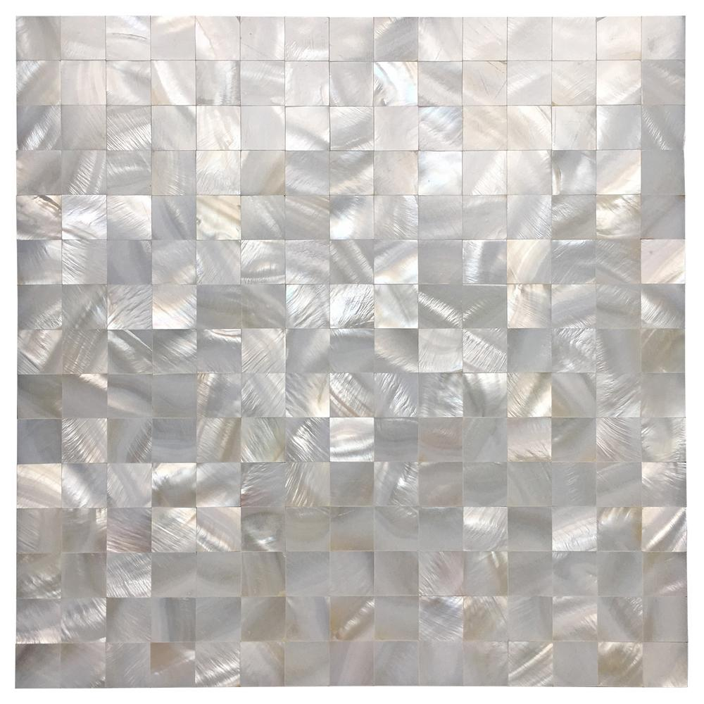 - Art3d 12 In. X 12 In. Mother Of Pearl Shell Mosaic Tile Backsplash