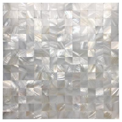 12 in. x 12 in. Mother of Pearl Shell Mosaic Tile Backsplash in White