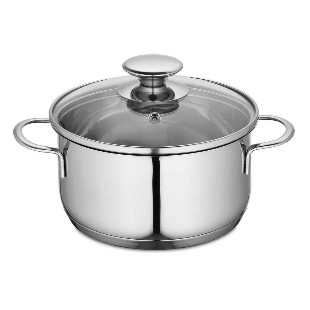 Kuchenprofi 1.6 qt. Stainless Steel Stock Pot with Glass Lid