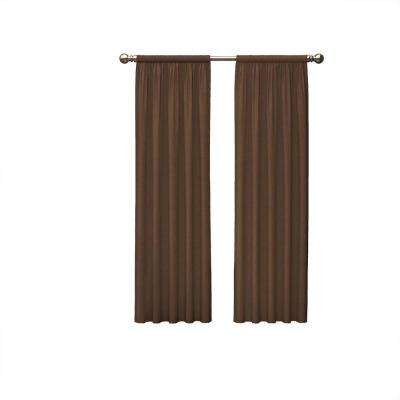 Teller 84 in. L Polyester Rod Pocket Drapery Panel Pair in Chocolate