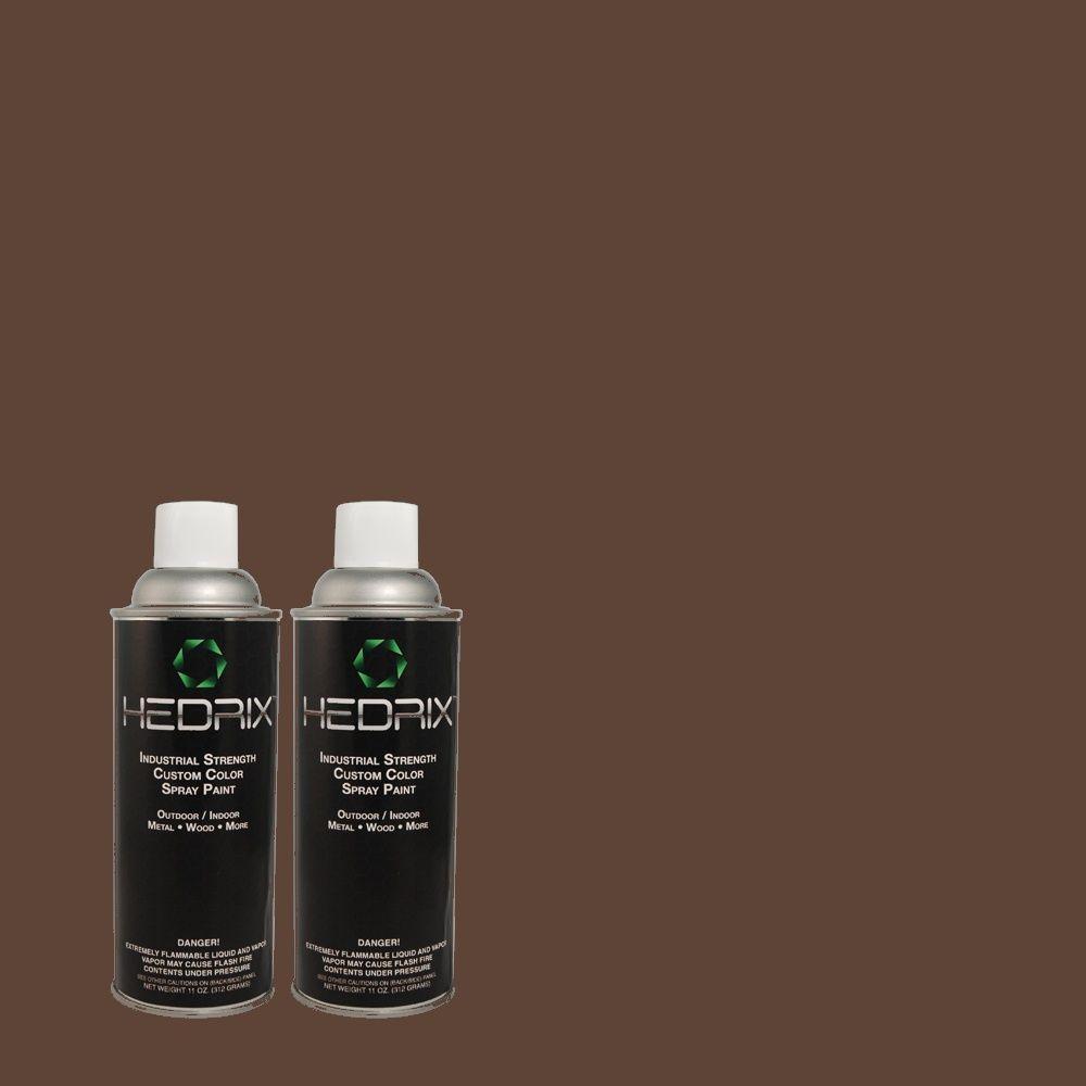 Hedrix 11 oz. Match of C40-15 Aged Bark Semi-Gloss Custom Spray Paint (2-Pack)