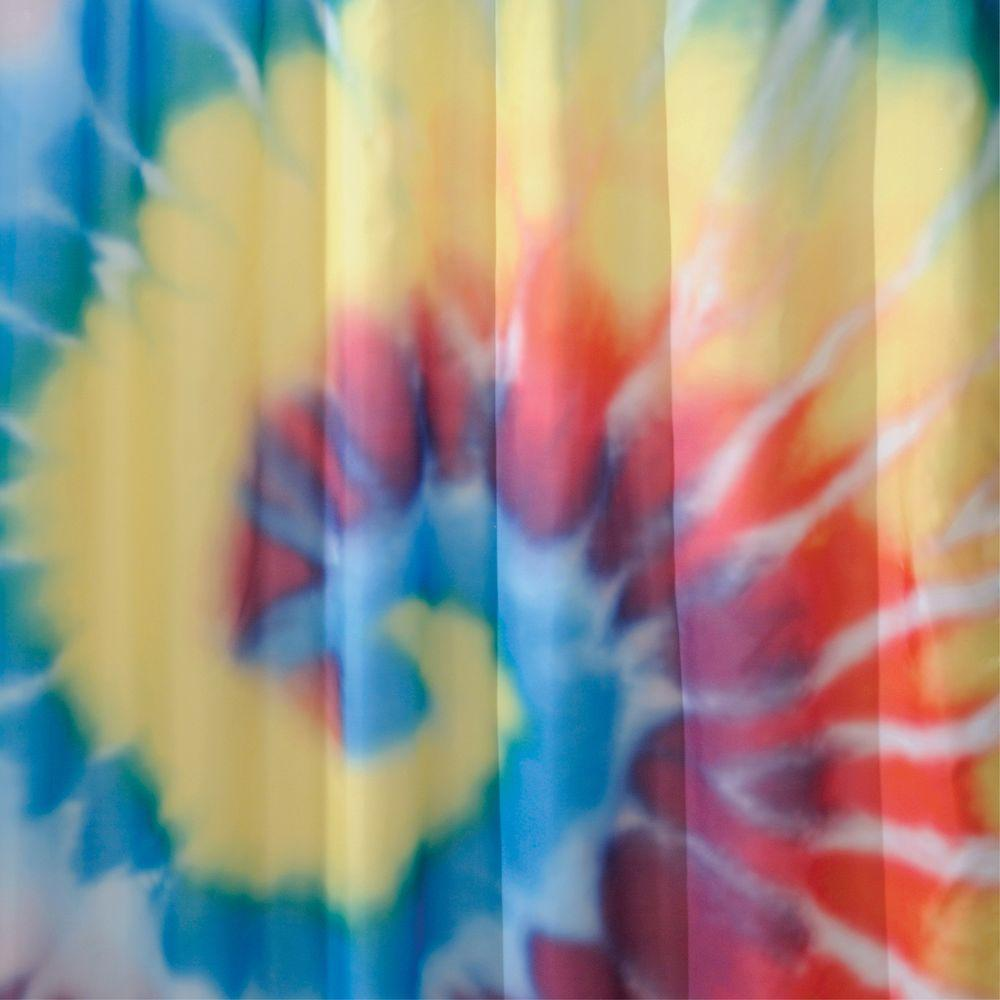 Interdesign Shower Curtain In Bright Tie Dye 37420 The