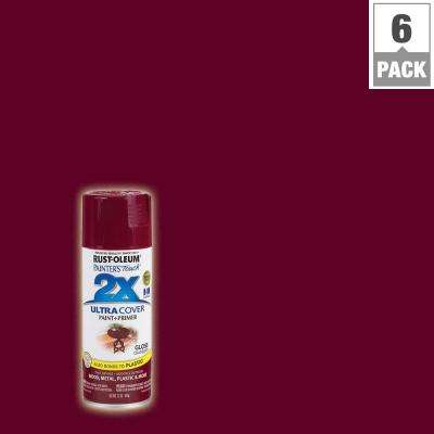 12 oz. Cranberry Gloss General Purpose Spray Paint (6-Pack)