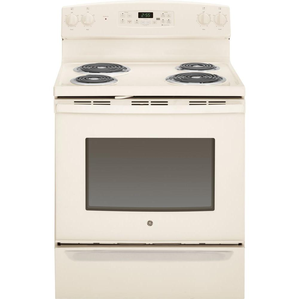 GE 5.0 cu. ft. Electric Range with Self-Cleaning Oven in ...