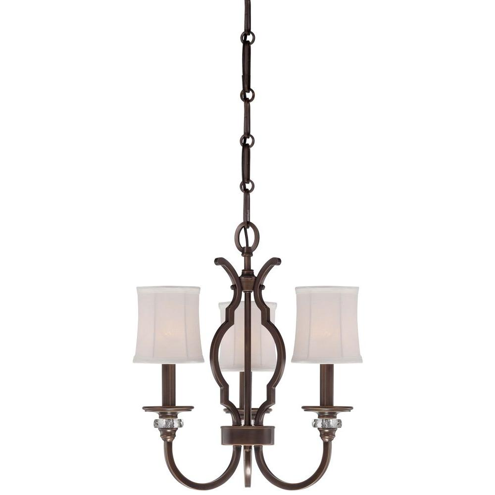 Minka Lavery 3-Light Dark Noble Bronze Mini Chandelier