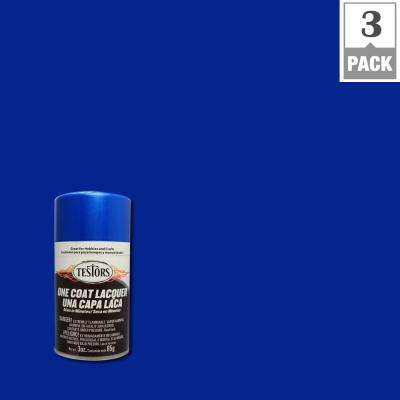 3 oz. Star Spangled Blue Lacquer Spray Paint (3-Pack)