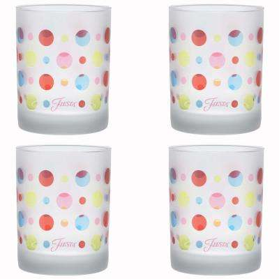 14 oz. Dots Frosted Classic Double Old-Fashioned Glass