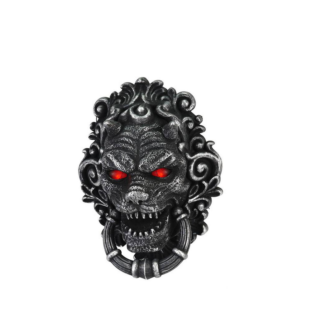 10 in. Animated Devil Door Bell with LED Illuminated Eyes