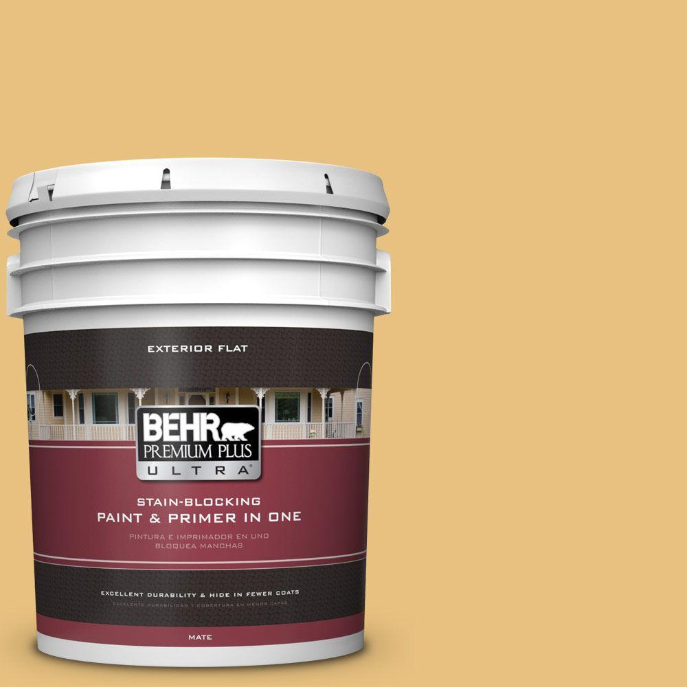 5-gal. #340D-4 Honey Bear Flat Exterior Paint