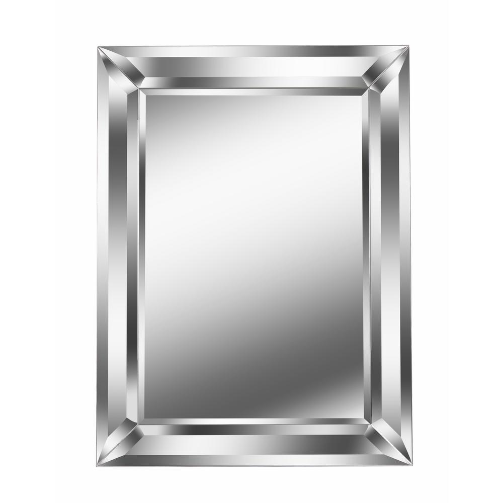 Beverly Rectangular Silver Wall Mirror