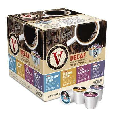 Variety Pack Assorted Flavors Decaf Coffee Single Serve Cups (54-Pack)