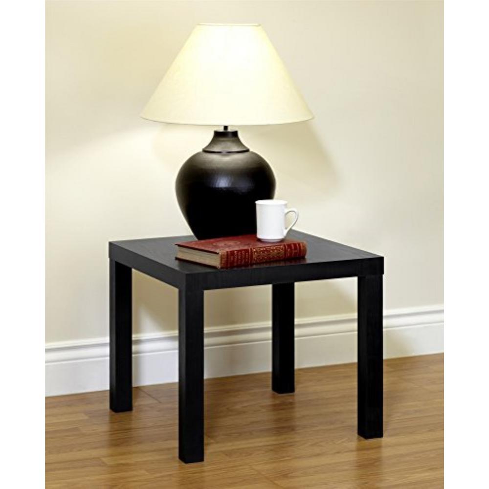 Dhp Parsons Black Wood Grain Coffee Table