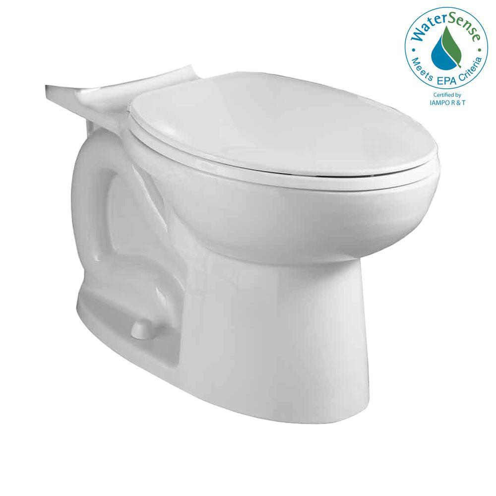 American Standard Compact Cadet 3 Elongated Toilet Bowl Only in White-DISCONTINUED