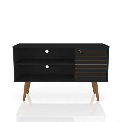 Liberty 42.52 in. Black 2-Shelf TV Stand