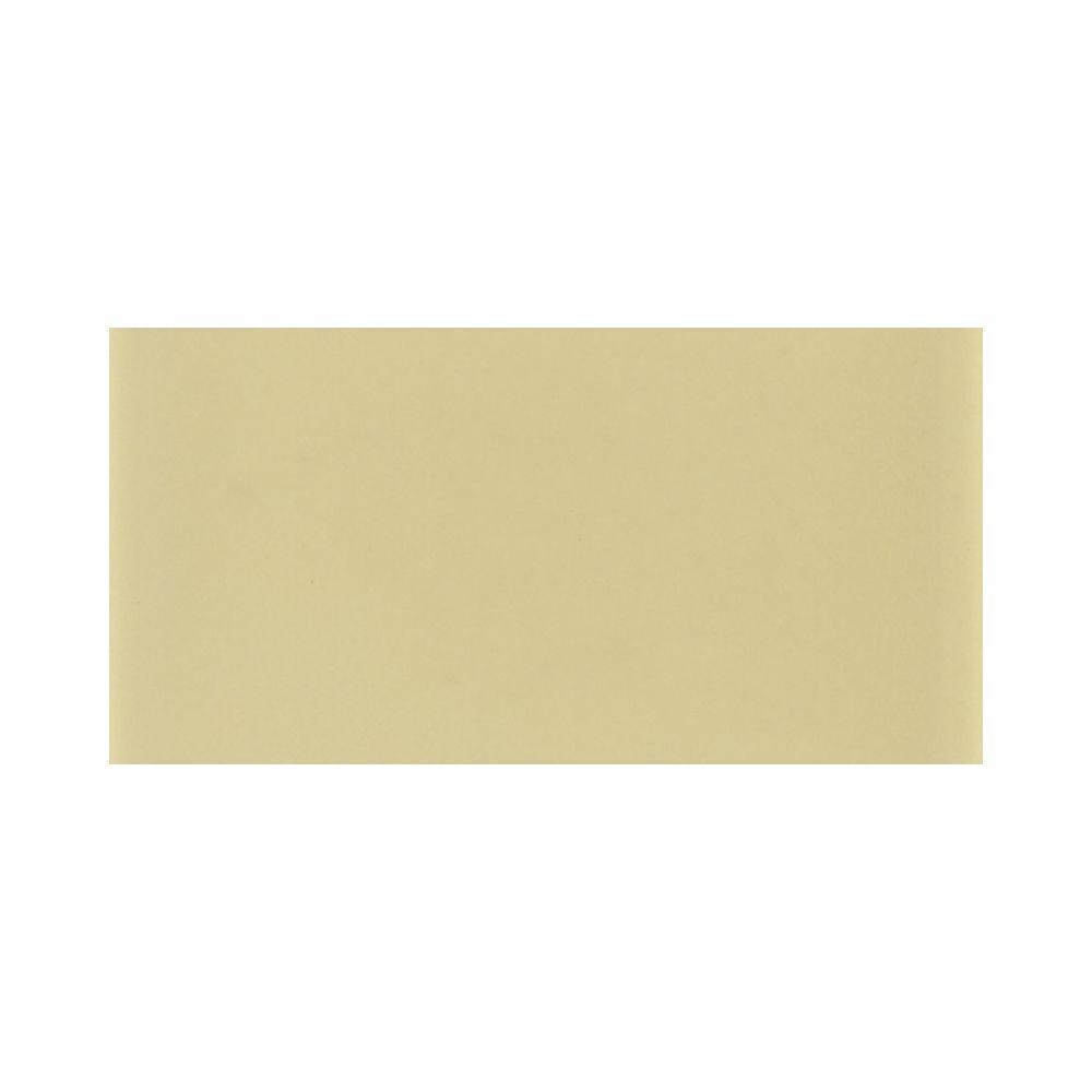 Daltile Glass Reflections 3 in. x 6 in. Cream Soda Glass Wall Tile (4 sq. ft. / case)-DISCONTINUED