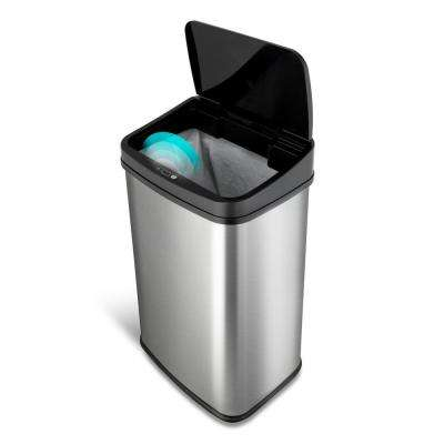 13 Gal. Stainless Steel Touchless Trash Can