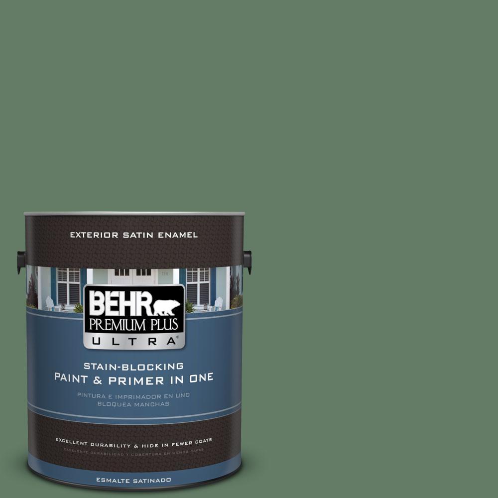 BEHR Premium Plus Ultra 1-gal. #S410-6 Greener Pastures Satin Enamel Exterior Paint