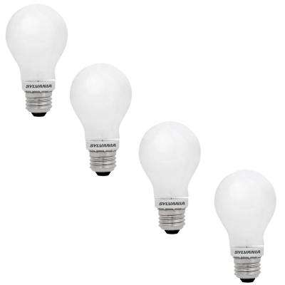 60-Watt Equivalent A19 Dimmable Double Life Household LED Light Bulb Warm White (4-Pack)
